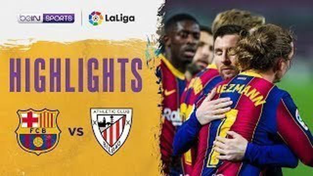 Berita video highlights laga pekan ke-21 Liga Spanyol 2020/2021 antara Barcelona melawan Athletic Bilbao yang berakhir dengan skor 2-1, di mana Lionel Messi mencetak gol indah dari free kick, Senin (1/2/2021) dinihari WIB.