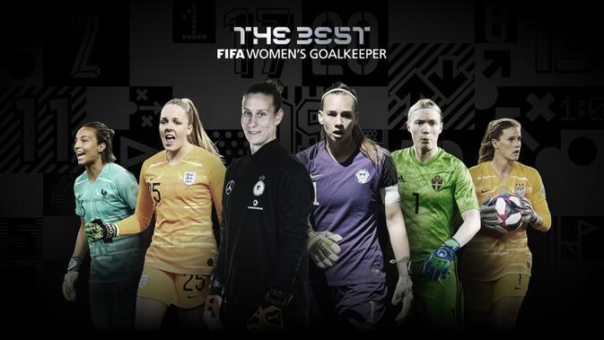 Nominasi pemenang kiper terbaik putri FIFA The Best Award 2020. (Dok FIFA)