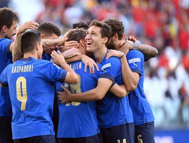 Foto: Kalahkan Belgia, Italia Sabet Tempat Ketiga UEFA National League 2021