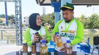 Kegiatan edukasi dan kampanye positif tentang kelapa sawit dikemas dalam acara bertajuk Amazing Race Sawit Hunt 2019 di Surabaya, Sabtu (14/9/2019) (Foto: Liputan6.com/Dian Kurniawan)