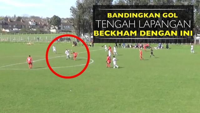 Berita video gol pemain MK Dons, Brandon Thomas-Asante, dari tengah lapangan mungkin lebih keren dibanding yang pernah dicetak David Beckham