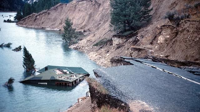 Pada 17 Agustus 1959, gempa dengan kekuatan 7,3 skala Richter mengguncang Montana, di dekat Taman Nasional Yellowstone, Amerika Serikat.
