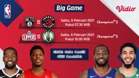 Big game NBA 2020/2021, Nets vs Raptors dan Clippers kontra Celtics dapat disaksikan melalui platform Vidio.
