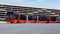 BYD meluncurkan bus listrik terpanjang di dunia bernama K12A. (BYD)