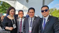 Ketua KOI, Erick Thohir bersama perwakilan NOC dari Malaysia, Singapura dan Thailand (istimewa)