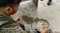 beberapa orang TKA Cina bantai seekor buaya dan membuat sup daging di Konawe hingga tepergok BKSDA Sulawesi Tenggara.(Liputan6.com/Foto BKSDA Sultra)