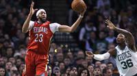 Anthony Davis saat Pelicans melawan Celtics (AP)