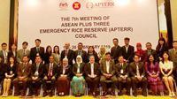 Delegasi Indonesia yang dipimpin Kepala Badan Ketahanan Pangan Kementerian Pertanian, Agung Hendriadi mengusulkan evaluasi dampak bantuan beras pada pertemuan APTERR ke-7.