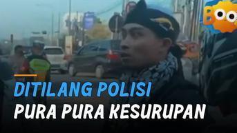 VIDEO: Ditilang Polisi, Pria Pura-Pura Kesurupan Ekspresinya Bikin Ngakak