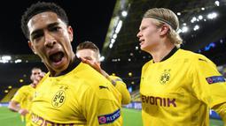 Jude Bellingham merupakan gelandang muda Borussia Dortmund yang sudah dipercaya oleh Inggris untuk tampil di Euro 2020. Pemain dengan nilai banderol 55 juta Euro tersebut telah mencetak empat gol dan lima assist dalam 46 penampilannya di semua kompetisi musim lalu. (Foto: AFP/Pool/Ina Fassbender)