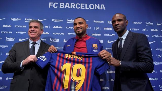 Pemain anyar Barcelona, Kevin-Prince Boateng.