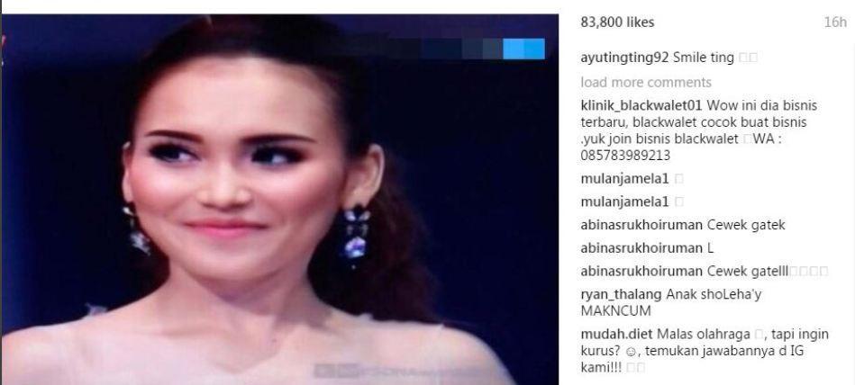 Ayu Ting Ting dikatai cewek gatel di Instagram (Instagram)