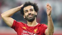 4. Mohamed Salah (35,1 juta dolar) - Pemain Timnas Mesir ini memperoleh 35,1 juta dolar dari 23,1 juta dolar gaji dan 12 juta dolar pendapatan dari iklan. (AFP/Karim Jaafar)