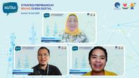 "Webinar DigiTalk dengan tema ""Strategi Membangun Brand di Era Digital"", yang diselenggarakan pada hari Jumat (16/7/2021) secara virtual melalui Zoom dan Live Streaming YouTube, untuk dapat memberi bekal sehingga para UMKM. (Foto Istimewah)"