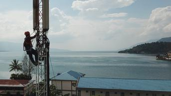 Jaringan 4G XL Jangkau 70 Desa di Sekeliling Danau Toba
