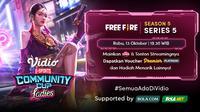 Jadwal dan Live Streaming Vidio Community Cup Ladies Season 5 Free Fire Season 5 di Vidio, Rabu 13 Oktober 2021. (Sumber : dok. vidio.com)