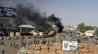 Ledakan bom di Kota Gombe, Nigeria. (Aljazeera.com)