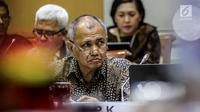 Ketua KPK Agus Rahardjo mengikuti RDP dengan Komisi III DPR, Jakarta, Senin (23/7). Rapat membahas Program dan Anggaran KPK, dalam kesempatan itu Anggota Komisi III menyinggung Jual-Beli Fasilitas di Lapas Sukamiskin. (Liputan6.com/Johan Tallo)
