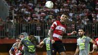 Madura United mengalahkan Borneo FC 3-0 pada pekan ketiga Shopee Liga 1 di Stadion Gelora Madura, Pamekasan, Selasa malam (28/5/2019). (Bola.com/Aditya Wany)