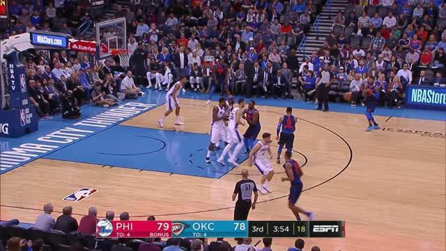 Berita video game recap NBA 2017-2018 antara Oklahoma City Thunder melawan Philadelphia 76ers dengan skor 122-112.