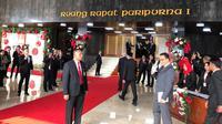 Gubernur DKI Jakarta Anies Baswedan saat hadir di Sidang Tahunan, Jumat 16 Agustus 2019. (Liputan6.com/Delvira Chaerani Hutabarat)