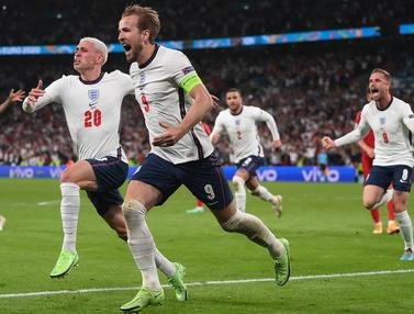 Foto Piala Eropa: Hadirkan Ancaman, 4 Pemain Inggris yang Harus Diwaspadai Italia di Final Euro 2020