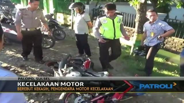 Kecelakaan terjadi di Kota Palopo, Sulawesi Selatan, diduga akibat berebut seorang wanita.