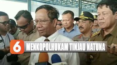 Didampingi Menteri KKP Edhy Prabowo, Pangkogabwilhan I serta sejumlah pejabat lainnya, Menkopolhukam kemudian menggelar rapat terbatas.