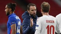 Pelatih Timnas Inggris, Gareth Southgate. (TOBY MELVILLE / POOL / AFP)