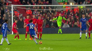 Gol tendangan bebas David Luiz yang buat kiper Liverpool Simon Mignolet tak berkutik mengisi deretan gol terbaik Liga Inggris pekan ke-23 bersama gol tembakan keras James Morisson, penyelesaian dingin Gylfi Sigurdsson dan Kevin de Bruyne.