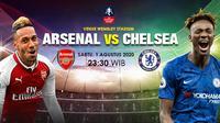 Arsenal vs Chelsea. (Liputan6.com/Trie Yasni)