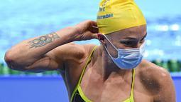 Sarah Sjostrom - Perenang Swedia ini mempunyai tato lambang Olimpiade di tangannya. Ia merupakan atlet putri Swedia pertama yang meraih emas Olimpiade dari cabang olahraga renang. Saat itu ia memecahkan rekor dunia saat berlaga di nomor 100 meter gaya kupu-kupu Olimpiade 2016. (Foto:AFP/Jonathan Nac