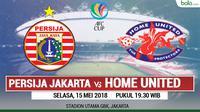 Jadwal Piala AFC, Persija Jakarta Vs Home United. (Bola.com/Dody Iryawan)