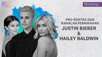 Pro-kontra dan ramalan Pernikahan Justin Bieber - Hailey Baldwin (Foro: AFP/Digital Imaging: M. Iqbal Nurfajri)
