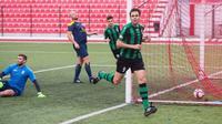 Pemain Europa, Pedro Carrion, menyamai rekor sebagai pencetak gol terbanyak dalam satu laga pada kompetisi resmi di Eropa. (Dok. UEFA)