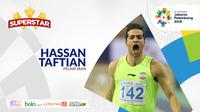 Superstar Asian Games, Hassan Taftian. (Bola.com/Dody Iryawan)