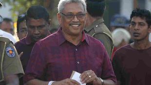 Gotabaya Rajapaksa, Eks Menhan Srilanka memenangkan pemilu dan menjadikannya seorang preside. (AP/ Eranga Jayawardena)