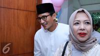 Sandiaga Uno dan istri, Nur Asia (Herman Zakharia/Liputan6.com)
