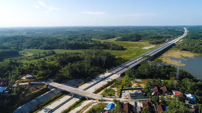 Jalan Tol Balikpapan-Samarinda menjadi tol pertama di Ibu Kota Baru dan akan beroperasi akhir Oktober 2019. (Dok. Jasa Marga)
