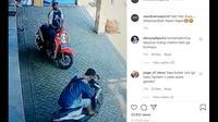 Tak semua pencuri bisa membawa kendaraan yang diinginkan, salah satu contohnya terlihat dalam video yang dibagikan akun Instagram @newdramaojol.id.