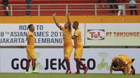 Dua pemain asal Brasil, Hilton Moreira dan Beto Goncalves sudah mencetak tujuh gol bagi Sriwijaya FC di Liga 1 2017. (Bola.com/Riskha Prasetya)