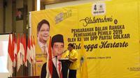 Ketua Umum Partai Golkar Airlangga Hartarto saat memberikan pengarahan kepada kader di Palembang, Sumatera Selatan. (Istimewa)