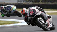Juara dunia Moto2, Johann Zarco, merampungkan balapan Moto2 Valencia di posisi ketujuh dengan catatan waktu 28 menit 58,665 detik.