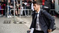 The Blues yang berhasil mendapatkan tanda tangan pemain 24 tahun tersebut. Chelsea dikabarkan media-media Eropa bersedia mengeluarkan dana 67 juta poundsterling (Rp 1,1 triliun) demi menebus Morata dari Real Madrid. (AFP/ dpa /Matthias Balk/Germany OUT)