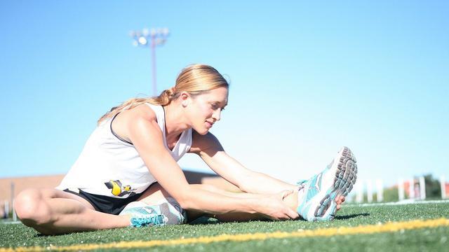 Ilustrasi olahraga, stretching