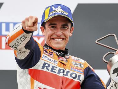FOTO: Marc Marquez Rajai Sirkuit Sachsenring di MotoGP Jerman 2021