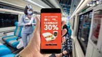 ShopeePay kini menghadirkan QRIS untuk opsi pembayaran di perjalanan kereta api. (Ist.)