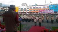 Baguna PDIP-BNPP menggelar pelatihan atasi bencana di Manado.