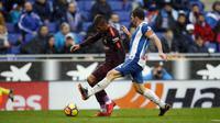 Barcelona mencatatkan rekor setelah bermain 1-1 kontra Espanyol. (Twitter)