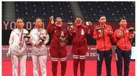 Kemenangan Leani Ratri Oktila dan Khalimatus Sadiyah. (Twitter/BadmintonTalk)
